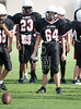 Annunciation Orthodox School visits nearby St. John's School for a morning 8th-grade football game. SJS wins 35-14