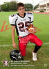 St. John's JV grade football team poses for individual and team portraits
