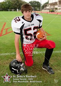 St. John's JV grade football team poses for individual and team portraits