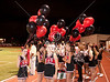 St. John's School honors its senior cheerleaders and football players at halftime during the game hosting HCHS. The good cheer rubbed off, as the Mavs won 23-20.