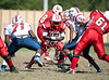 The Lamar Redskins travel to Butler Stadium to play Bellaire High School in varsity football on Halloween afternoon for a televised game.  Lamar pulls ahead to hold off Bellaire, 24-23.