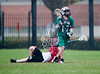 Woodlands Jr High Lacrosse team came to Houston's St. John's campus to play the 7th grade boys team on Scotty Caven Field under rainy skies. Woodlands wins 13-4.