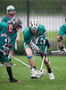 Woodlands Jr High Lacrosse team came to Houston's St. John's campus to play the 8th grade boys team on Scotty Caven Field under rainy skies. Woodlands wins.