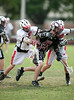 Cinco Ranch Lacrosse Cougars' JV boys team play the Mavericks of St. John's School at Scotty Caven field in Houston. Cinco Ranch wins 7-5.
