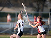 The Bellaire Cardinals play the Mavericks of St. John's in girls JV lacrosse at Skip Lee Field. SJS wins.