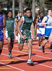 Memorial high school's newly-refurbished track complex is home to a regional track & field meet among area UIL 5A region 3 high schools.  Saturday morning was set aside for track events, shown here.
