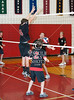 St. John's incoming boys varsity volleyball team plays SJS alumns in the 10th annual alum varsity game at SJS.