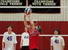 Kinkaid visits St. John's to play JV1 Volleyball. The Falcons win over the Mavericks, two games straight in a best of 3.