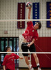 Kinkaid visits St. John's to play Varsity Volleyball. The Mavs win over the Falcons three games straight in a best of 5.