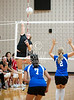 HCYA visits St. John's to play the best 3 of 5 games in a girls varsity volleyball match. HCYA wins 22-25 / 25-4 / 11-25.