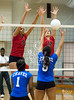 HISD schools Chavez and Bellaire compete in a varsity girls volleyball match at Butler Field House. Bellaire wins.