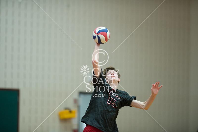 St. Mark's at St. John's boys volleyball