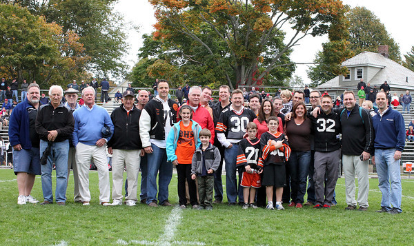 Beverly: The 1988 Beverly Panther undefeated Super Bowl team was honored at halftime of the Beverly-Marblehead game on Saturday afternoon. David Le/Salem News
