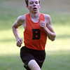 Beverly: Beverly senior Campbell Wood sprints to the finish line against Peabody on Wednesday afternoon.  David Le/Salem News
