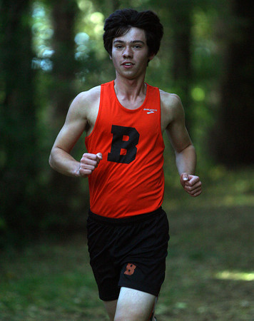 Beverly: Beverly senior Mike Scott races downhill against Peabody on Wednesday afternoon. David Le/Salem News