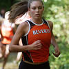 Beverly: Beverly senior Keeley Higgins races through the woods of JC Phillips Park on Wednesday afternoon against Peabody. David Le/Salem News