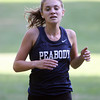 Beverly: Peabody senior Sydney May sprints across the finish line to take 5th place overall against Beverly on Wednesday afternoon. David Le/Salem News