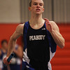 Beverly: Peabody senior Bryan Wolff runs the leadoff leg of the Tanners winning 4x400 meter relay on Thursday afternoon against Beverly. DAVID LE/Staff Photo