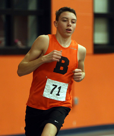Beverly: Beverly junior Campbell Wood won the 2-mile against Peabody, however, the Panthers fell to the Tanners in NEC track action on Thursday afternoon. DAVID LE/Staff Photo