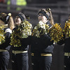 Woburn: The Bishop Fenwick varsity cheerleaders root on the Crusaders during the D5 State Semifinal at Connolly Stadium in Woburn on Friday evening. David Le/Salem News