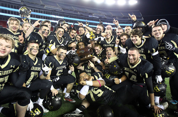 Foxborough: The Bishop Fenwick football team finished the season a perfect 13-0 with a 28-0 win over Northbridge in the D5 State Championship on Saturday evening at Gillette Stadium. DAVID LE/Staff Photo 12/7/13