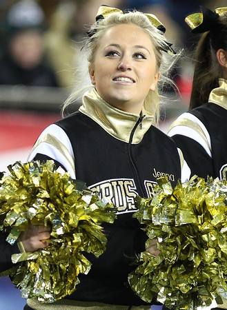 Foxborough: Bishop Fenwick junior Jenna Trickett glances up at the scoreboard during the D5 State Championship on Saturday evening at Gillette Stadium. DAVID LE/Staff Photo 12/7/13