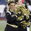 Foxborough: Bishop Fenwick senior cheerleading captain Marissa Moschella performs on the field during the D5 State Championship on Saturday evening at Gillette Stadium. DAVID LE/Staff Photo 12/7/13