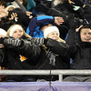 Foxborough: Bishop Fenwick fans cheer on the Crusaders during the D5 State Championship on Saturday evening at Gillette Stadium. DAVID LE/Staff Photo 12/7/13