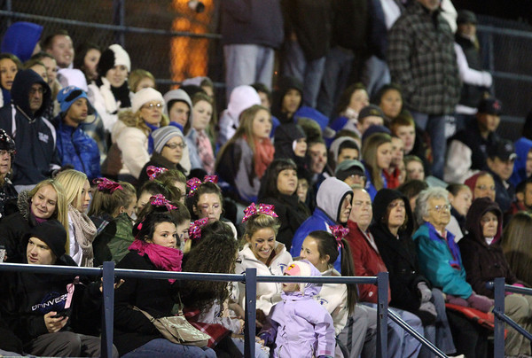 Winthrop: A few hundred Danvers Falcons fans made the trip to Winthrop to see the Falcons take on the Vikings in a clash of NEC teams on Saturday evening. David Le/Salem News