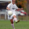Hamilton: Hamilton-Wenham senior captain Suzanne Rose (18) plays the ball upfield against Newburyport on Wednesday afternoon. David Le/Salem News