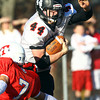 Tewksbury: Marblehead junior running back Brooks Tyrrell (44) cuts back against Tewksbury during the D2 Northeast Championship game at Doucette Field in Tewksbury on Saturday afternoon. The Magicians fell to the Redmen 34-21. David Le/Salem News