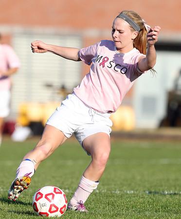 Boxford: Masco senior captain Kaleigh White controls the ball against Newburyport on Monday afternoon. David Le/Salem News