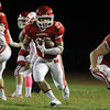 Boxford: Masco senior running back Mike Tivinis (27) finds a wide open running lane against Pentucket on Friday evening. David Le/Salem News
