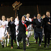 Lynn: The Masco boys soccer team carries the D2 State Championship trophy across the field to show their fans on Thursday evening at Manning Field in Lynn. David Le/Salem News