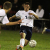 Peabody: Peabody's Jake Silva fires a through pass to a sprinting teammate. Silva and the Tanners battle to a 1-1 draw with Danvers on Wednesday evening. David Le/Salem News