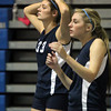 Peabody: Peabody senior Hailey Hanrahan (33) and junior Madison Mahoney (3) can only watch as Haverhill celebrates their 3-0 win over the Tanners in the D1 North Semifinals on Wednesday evening. David Le/Salem News