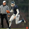 Hamilton: Pingree sophomore quarterback Griffin Beal (7) scrambles out of the pocket against Dexter Southfield on Saturday afternoon. David Le/Salem News