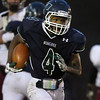 Hamilton: Pingree senior captain Johnnie Spears takes off for a big gain of yards against Dexter Southfield on Saturday afternoon. David Le/Salem News