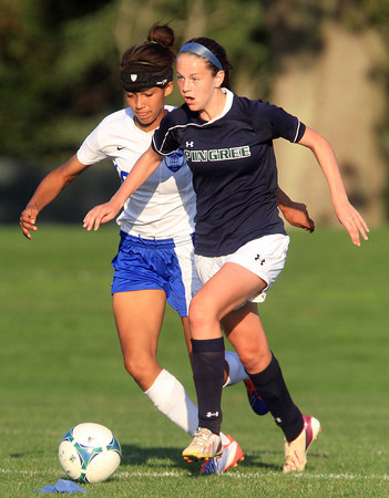 Hamilton: Pingree sophomore Kerri Zerfoss controls the ball against LCA on Wednesday afternoon. David Le/Salem News