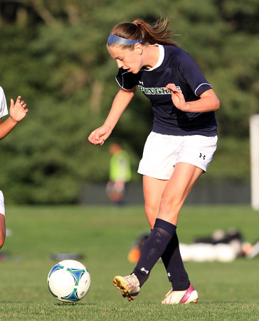 Hamilton: Pingree sophomore Kerri Zerfoss passes the ball upfield against LCA on Wednesday afternoon. David Le/Salem News