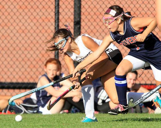 Salem: Salem High School forward Alexa Gilbert rifles a shot on net against Revere on Thursday afternoon. David Le/Salem News