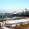 Boston: The St. John's Prep boys hockey team took on Catholic Conference rival Malden Catholic on outfield grass of Fenway Park on Tuesday afternoon. DAVID LE/Staff Photo