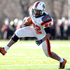 Salem: Beverly senior running back Isiah White (22) keeps his balance and makes a juke outside during the 115th meeting between the Witches and Panthers at the newly renovated Bertram Field in Salem on Thanksgiving morning. The Panthers behind three touchdowns by senior running back Isiah White took down the Witches 20-6. David Le/Salem News