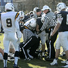 Danvers:<br /> A confrontation involving Xaverian and St. John's Prep football teams caused the referees to clear the field in the 3rd quarter at the Thanksgiving football game.<br />  Photo by Ken Yuszkus / The Salem News, Thursday, November 28, 2013.