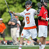 Beverly junior attack Nick Albano celebrates the first of his four goals against Marblehead. Behind four goals and five assists from junior attack Nick Albano the Panthers downed the Magicians 12-6 to capture the D2 North Title at Bertram Field in Salem on Saturday afternoon. DAVID LE/Staff photo. 6/7/14.