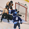 Beverly's Connor Irving finds the back of the net and scores the game winning goal in the teams first ever Division 2 state championship with a win over Medfield at the TD Garden Sunday night in Boston.  March 16,2014 Staff photo by Desi Smith