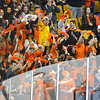 Beverly fans go crazy when Jesse MaClaughlin finds the back of the net, with a pass out front from Beverly's Connor Irving and the game winning goal in the teams first ever Div.2 State Championship with a win over Medfield at the TD Garden Sunday night in Boston.  March 16,2014 Staff photo by Desi Smith