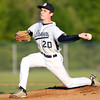 Danvers senior starting pitcher Brandon Hyde throws a pitch against Dracut on Sunday evening. DAVID LE/Staff photo. 6/1/14.
