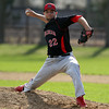 Marblehead starting pitcher Jon Cavolina (22) throws a pitch against Beverly on Friday afternoon. DAVID LE/Staff photo. 5/2/14
