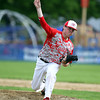 Masco senior starting pitcher Joe Klingensmith delivers a strike against Hamilton-Wenham. Klingensmith went the distance, striking out 12 Generals batters to lead the Chieftans to a 2-1 win on Tuesday afternoon at Patton Park. DAVID LE/Staff photo. 5/20/14